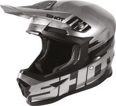 SHOT FURIOUS BRUSH CHROME Helm